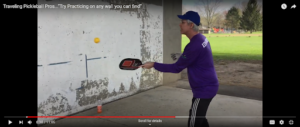 Traveling Pickleball Pros - Hitting Against the Wall